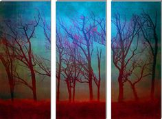 Light storm in the forest ~ triptych Art Print by Jess Val | Society6