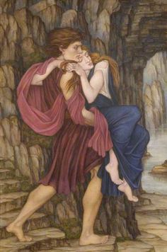 The Rescue by John Roddam Spencer Stanhope    Date painted: c.1880