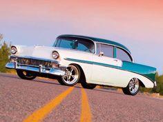 Visit The MACHINE Shop Café... ❤ Best of Chevy @ MACHINE ❤ (1956 Chevrolet 2-door Coupé)