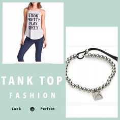 "LAST ONE// Look Pretty Graphic Tank ""Look Pretty Play Dirty"" Tank in gray. Adorable top! Says it all. Cotton material blend. True to USA  size charts. April Spirit Tops Tank Tops"