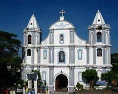 Church of Our Lady of Namacpacan, Luna, La Union, The Philippines Ilocos, Building Photography, Church Of Our Lady, Famous Buildings, Pilgrimage, Philippines, House Styles, Cathedrals, Seas