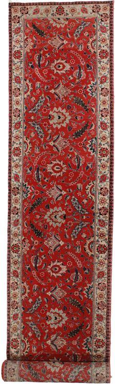"""3'1"""" x 19"""" Antique Persian Tabriz Runner"""