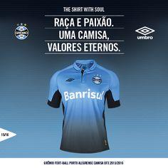 Umbro apresenta a nova camisa do Grêmio…