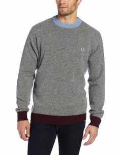 Fred Perry Men's Contrast Ringer Crew Neck Sweater, Grey Marl, X-Large Fred Perry,http://www.amazon.com/dp/B00C1LUKV0/ref=cm_sw_r_pi_dp_GZrOsb1TFKCNYVF8