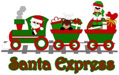 Santa's Express by ScrappyDew.com. Paper piecing pattern files.