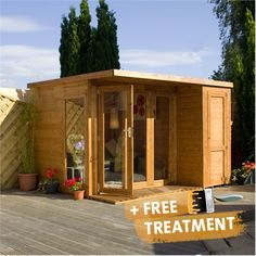 10 x 8 Waltons Contemporary Summerhouse with Side Shed (RH)