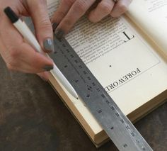 Use a ruler to mark steady, even lines.