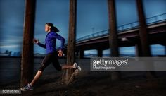 Stock Photo : USA, Colorado, Mesa County, Grand Junction, Side view of female runner