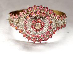 Art Deco Bracelet Czech Enamel Bracelet Silver by boylerpfantiques, $65.00 #EcoChic #vintage #jewelry #Fashion #etsyretwt