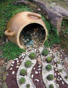 coole gartendeko idee für Terrarium