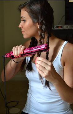 I did this and I loved the waves ❤️just braid your hair and straighten the braided hair