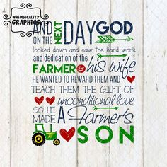 Digital File - Farmer's Son with SVG, DXF, PNG Commercial & Personal Use