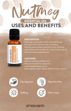 Coffee Essential Oil, Essential Oil Diffuser Blends, Essential Oil Uses, Lemon Essential Oils, Nutmeg Benefits, Oil Benefits, Ingesting Essential Oils, Essential Oils For Breathing, Nutmeg Oil