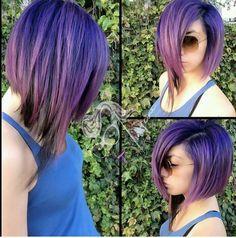 Cute purple short cut... Love this!
