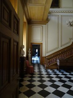 The French influence continues inside with the plan: two public rooms in the central axis (Hall and Saloon), with three apartments of two to. Belton House, Hall House, New Orleans Homes, Decoration, Regency, Interior And Exterior, Stairs, Woodworking, Room