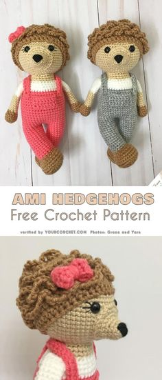 Amigurumi Hedgehogs Free Crochet Pattern #freecrochetpatterns #amigurumipattern