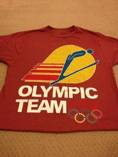 Official Apparel Vintage Style Olympic Swim Team Shirt USA Mens Medium | eBay