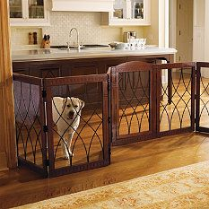 Dog Gates   Freestanding Pet Gates   Wooden Dog Gates   Frontgate