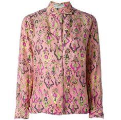 1960s Emilio Pucci Printed Silk Shirt