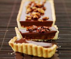 Dessert de Cyril Lignac : Tarte au chocolat et cacahuètes caramélisées