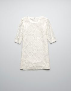 LACE DRESS WITH ZIP - Dresses - Girl (2-14 years) - Kids - ZARA United States