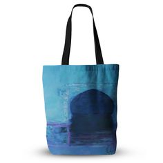 """Oriana Cordero """"Chefchaouen-Blue City"""" Blue Purple Everything Tote Bag"""