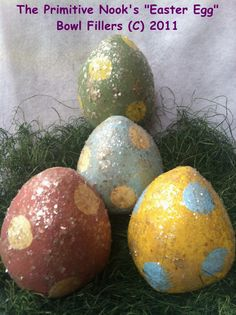 NEW Pdf Primitive EASTER EGG Bowl Fillers  by primitivenook, $8.00