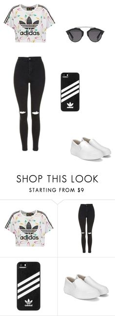 """""""Untitled #42"""" by bleona-ermonda on Polyvore featuring adidas Originals, Topshop, adidas and Christian Dior"""
