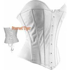 Off white faux leather corset sweet heart cut. www.discreettiger.com.au