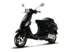 Vespa black scooter