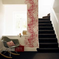 creativley using wall paper.... Affordable Decor: Smart Ways to Use Wallpaper in Small Doses