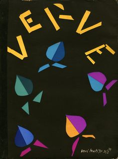 Matisse's cover, VERVE The French Review of Art Volume 2, Number 8, Sept-Nov 1940