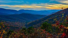 Autumn sunset in the Shenandoah National Park [6000x3375] [OC]   landscape Nature Photos