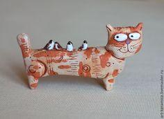 Купить Кот керамический Михаэль. Фигурки животных. - Керамика, фигурки животных, статуэтки животных