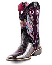 Ariat women's rodeobaby rocker square toe boot: black anteater print/black tattoo. A little flashy but cute.
