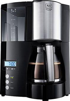 Melitta 100801 Optima Timer Kaffeefiltermaschine - schwarz/Edelstahl - AmazingMarket.de