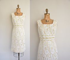 vintage 1950s Dress / 1950s perfect white by simplicityisbliss, $278.00