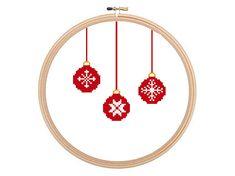 Christmas Balls - Christmas Cross Stitch Pattern, Christmas Xstitch, Winter Cross Stitch, Easy Cross Stitch, Christmas needlework