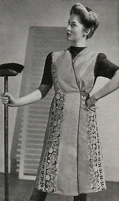 Vintage Diagram Sewing Pattern Make A 1940s Wartime Utility Apron Free UK Post | eBay