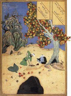 Qabil burying his brother Habil