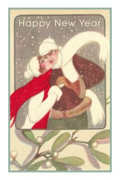 §§§ : mistletoe greeting : early 1900s