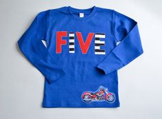 Motorcycle 5th Birthday Tee