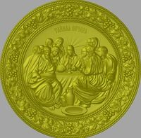 Lord-s Supper 3d model for cnc in STL file format Picture STL_857