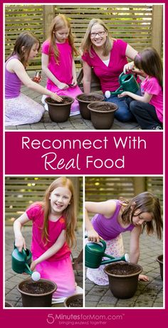 Help Your Kids Reconnect With Real Food -   I've found that the NUMBER 1 thing I can do to help inspire my kids to eat more vegetables is to let them plant their own vegetable seeds and watch them grow.   In this sponsored post I share how Kashi is helping teach more kids about real food.