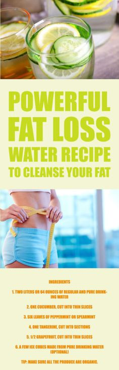 Powerful Fat Loss Water Recipe to Cleanse Your Fat – Medi Idea