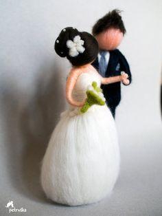 Liefde bruiloft huwelijk naald vilten door PETRUSKAfairyworld