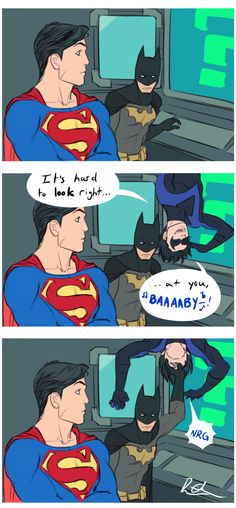 Haha!! #DC #comic #batman #superman #nightwing