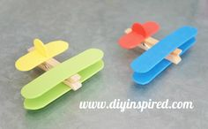 Fly into fun with this clothespin airplane kids project! It's a fun kids craft, as well as a great holder for homework, photos and more. Click in to watch the full tutorial video, courtesy of DIY Inspired.