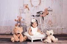 Dreamy Bears ~ Love this Photography Backdrop from Baby Dream Backdrops.