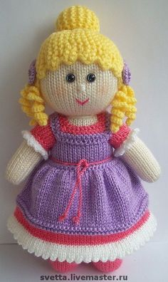 Knitted Dolls Free, Knitted Doll Patterns, Animal Knitting Patterns, Crochet Dolls, Puppet Patterns, Knitted Teddy Bear, Crochet Teddy, Knitted Stuffed Animals, Knitting Dolls Clothes